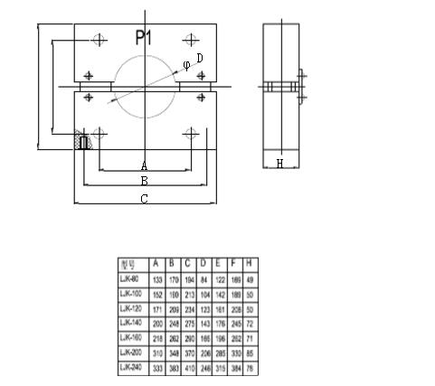 LJK零序电流互感器外形及安装尺寸