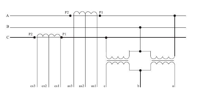 10kv干式电力计量箱接线图