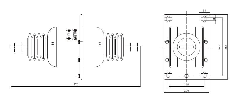 LAZBJ-10电流互感器外形尺寸