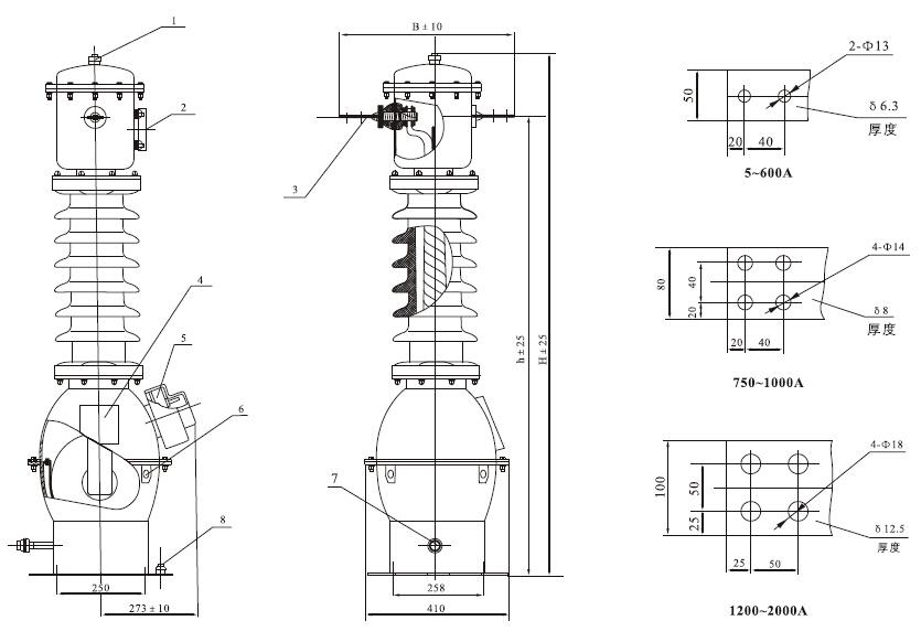 lb6-35型电流互感器为油纸绝缘