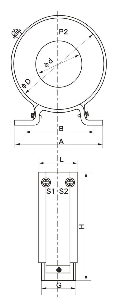 RCT型电流互感器外形尺寸