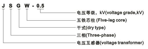 JSGW-0.5型电压互感器型号含义