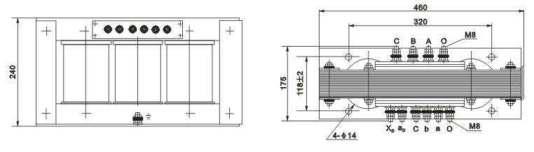 JSGW-0.5型电压互感器外形尺寸