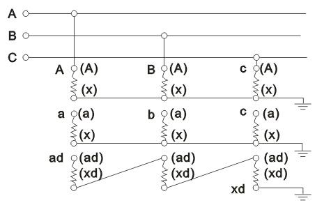 JSGW-0.5型电压互感器接线原理图
