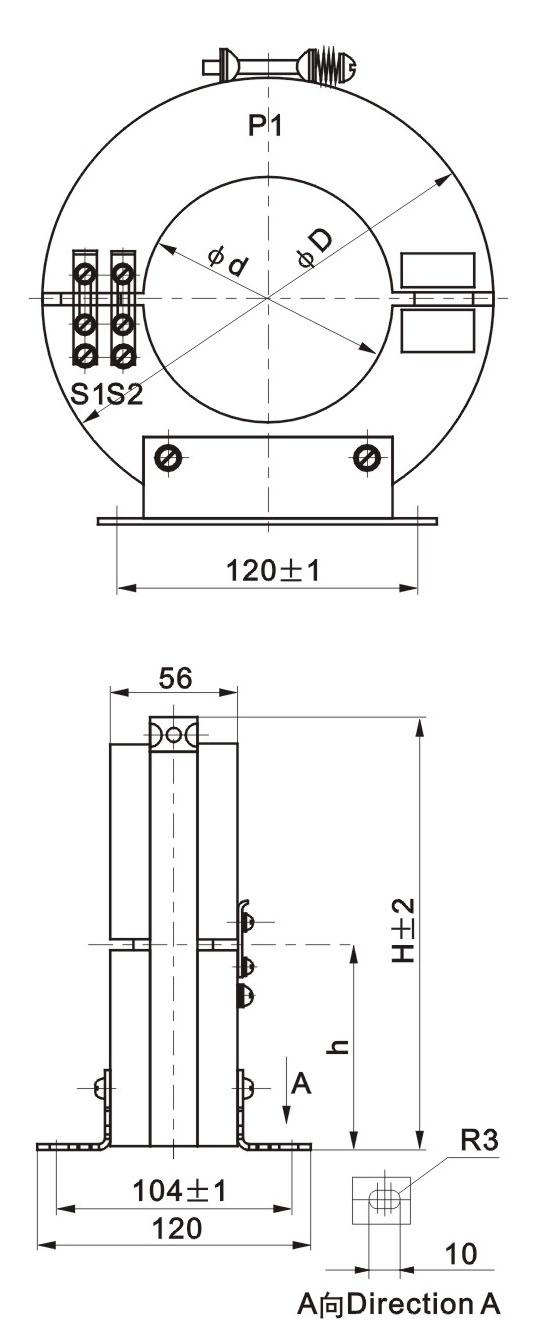 LXK零序电流互感器外形尺寸