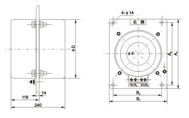 LMZD2-10电流互感器外形尺寸