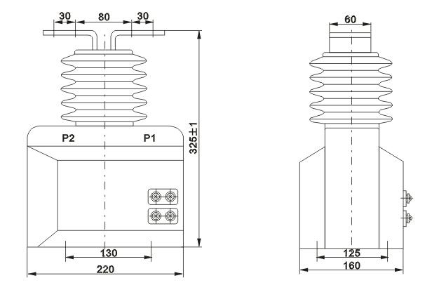 本型电流互感器为环氧树脂浇注绝缘全封闭结构