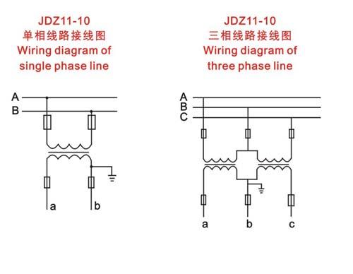 10/unz10电压互感器接线图