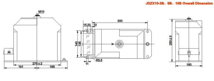 jdzx10-3,6,10a(b)电压互感器外形尺寸