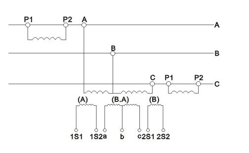 JLSZV-6、12、35W组合互感器接线