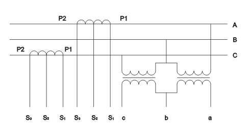 """本产品由两台单相全绝缘电压互感器组成""""v""""形接线,两台电流互感器分别"""