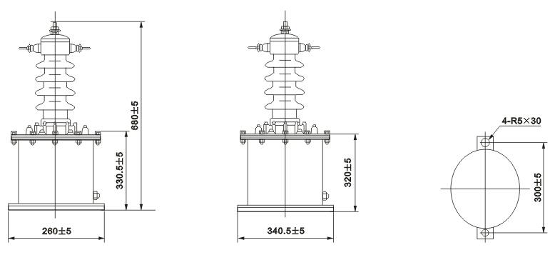 LB-10W电流互感器外形尺寸
