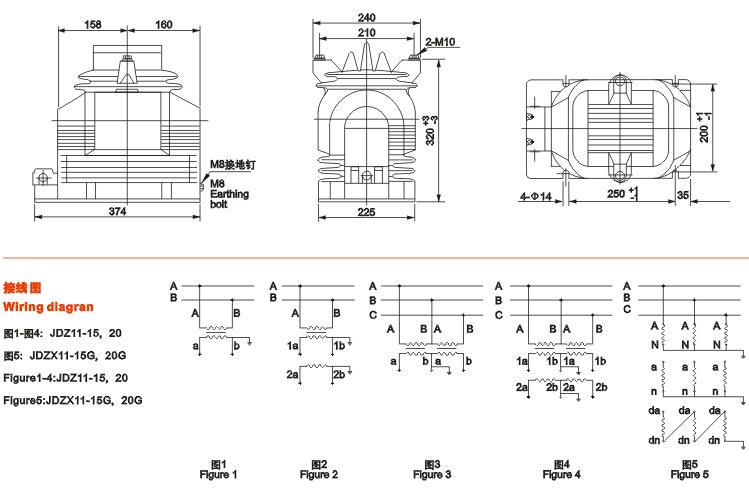 20g电压互感器价格-技术参数-工作原理-外形尺寸及接线图