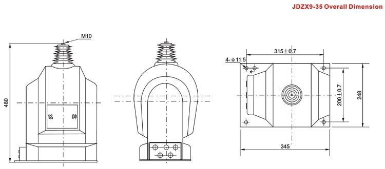 jdz(x)(f)9-35q型电压互感器接线图